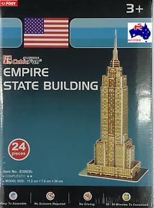 3D Empire State Building Puzzle - 24 Pieces