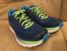 Hoka One One Clifton 4 True Blue / Jasmine Green Mens 12.5 No Insoles