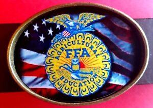 FFA US FLAG  Epoxy Photo Buckle - NEW!