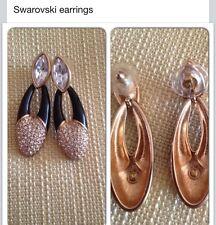 swarovski Earrings With Swarodki Crystal And Black Enamel