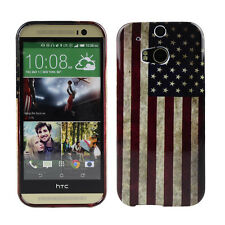 Schutzhülle f HTC One M8 Tasche Case Cover Etui TPU USA Flagge Amerika States