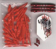 """The SAMURAI"" Soft Tip Dart Upgrade Kit: Red Tips, Samurai Flights Shafts & More"