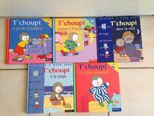 Lot de 5 livres T'choupi  26maiC