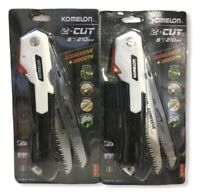 2 Pack Komelon FT-210 2 Cut Folding Saw With 2 Blades 1 Smooth & 1 Aggressive(Y)