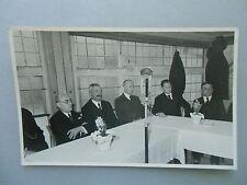 4 viejas fotografías asamblea??? antiguo micrófono Telefunken