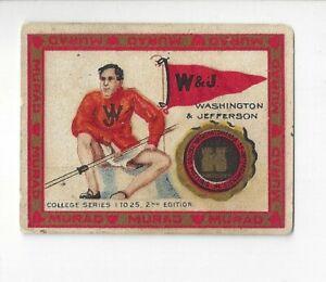 Washington & Jefferson Murad T 51 Cigarettes Lacrosse Trading Card Lacrosse