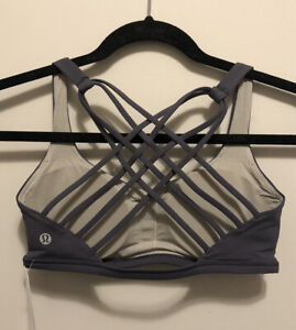 NWT Lululemon Size 8 Free To Be Wild Bra MONW Moonwalk Gray