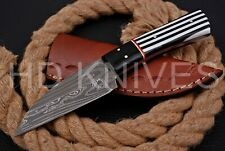8 inch HD Custom fixed blade Damascus steel full tang Hunter skinner knife 132