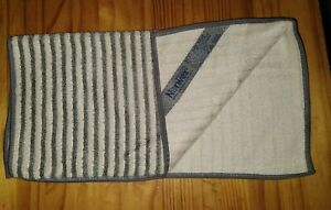 NEW NorwexFace & Body Towel Pack 1 cloth Graphite/Vanilla stripes gray grey