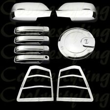 Fit 05-10 Jeep Grand Cherokee Full Mirror+4Door Handle+Tail Light+Gas Cap Cover