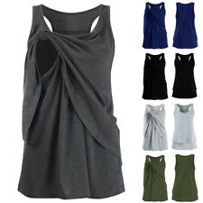 Women Maternity Nursing Vest Wrap Casual Solid Sleeveless Blouse Shirt Tank Tops