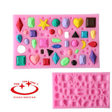 New Mini Gem Diamond Silicone Fondant Mold Cake Candy Chocolate DIY Baking Tool