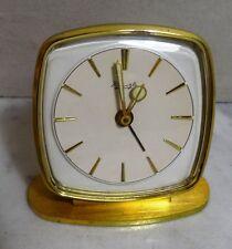 Antike hochwertige mechanische Kienzle Tischuhr massiv Messing Tisch Wecker Uhr