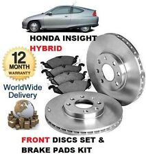 FOR HONDA INSIGHT 1.0i HYBRID 2000-12/2004 FRONT BRAKE DISCS SET & DISC PAD KIT