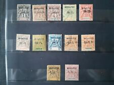 stamps french office China 12 timbres France colonies Chine Mong Tzeu