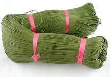 Verde Oliva Cordón De Algodón Encerado 10 M x 1 mm Shamballa Macramé fabricación de joyas