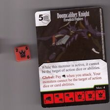 DICE MASTERS YU-GI-OH UNCOMMON CARD WITH DICE #048 DOOMCALIBER KNIGHT FIGHTER