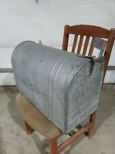 Vintage Large Galvanized Steel Old Rustic Farm Rural Mailbox Heavy