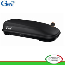 Gev S9008 - BOX BAULE UNIVERSALE PORTABAGAGLI AUTO SPAZIO 580 LT NERO OPACO