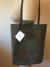 Leah Lerner Handmade Gray Genuine Leather Tote, New with Tags, Free Shipping