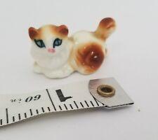 A10 Vintage Miniature Brown & White Porcelain Cat Cats Miniatures Dollhouse