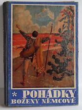 Pohadky Bozeny Nemcove  Fairy Tale book 1947 Czech vintage children's illust HB