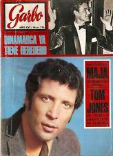 Revista Garbo nº 796 Tom Jones, Hayley Mills, Manolo Gomez Bur, Miss Maja