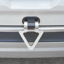 Silver Universal Triangle Car Auto Decoration Dummy Tow Hook Sticker Trailer