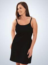 Leading Lady Nursing Chemise Bra Tank Dress, Black SIZE L      (E331)