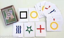 Deck Of 25 Esp Color Rhine Symbol Bicycle Cards Set Mental Magic Trick Magician