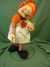 "Annalee Dolls 18"" Valentine Candy Girl with Lollipop Sucker c1971 AL310"