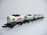 Minitrix N 1:160 13548 5-teiliger Kesselwagen Zug AIR BP 2-achsig weiß
