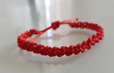 Pulsera Roja de la Suerte en Macramé Pulseras Hilo Bisutería/ Macrame Bracelet G