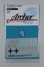 Archer 1/24 Panzer II Ausf.F Tank Markings 11th Panzer Division WWII AR35326