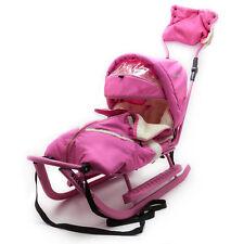Schlitten Piccolino Komfort Rosa Pink Kinderschlitten Babyschlitten Fußsack