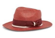 0b2bdcb293cd1 GOORIN BROS Womens Red Edison Fedora Hat Sz S 1088