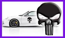 3 x THE PUNISHER 3D SKULL LOGO VINYL DECAL COMIC CAR LAPTOP STICKER GR WALL