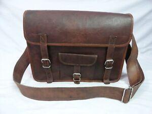 Leather Messenger Bag 15 Inch Laptop Crossbody Bag Shoulder Bag
