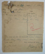 VC CREDIT NOTE - 1st of January 1963 - NLF Goods Acquisition - Vietnam War, 3433