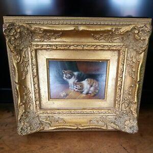 Vintage Ornate Gold Framed Orriginal Oil Painting