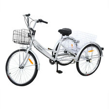 26 Noir Tricycle shopping Vélo Tricycle pour les Adultes Alliage D'aluminium