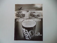 advertising Pubblicità 1973 AGIP SINT e MINI 1000