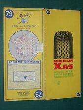 Carte MICHELIN n° 79 BORDEAUX - MONTAUBAN 1970