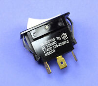 1pc  Carling Rocker Switch, SPDT, 3A 250Vac, 6A 125Vac, 1/4HP, ON/ON