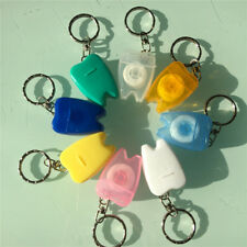 Portable Dental Floss Teeth Clean*Key Ring Keychain Travel 15M Random Colour`15m