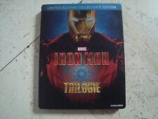 IRON MAN 1-3 TRILOGY *rare* Blu-Ray SteelBook +EXCLUSIVE COMIC BOOK MARVEL