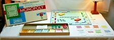 Vintage 1961 Monopoly Board Game Parker Brothers Real Estate Trading Made in USA