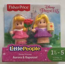 NIB Fisher-Price Little People Disney Princess Aurora & Rapunzel Figure Toy