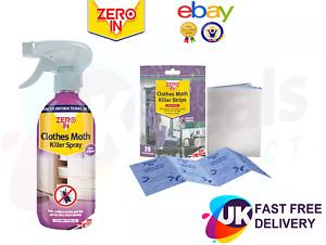 Zero In Clothes Moth Killer Larvae & Eggs Killer Spray Solvent Free 500ml