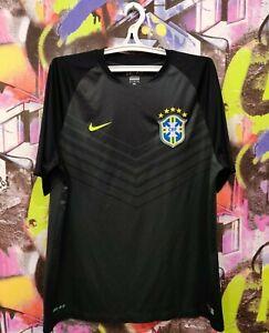 Brazil National Football Team 2014 2015 CBF Soccer Jersey Shirt Top Nike Mens XL